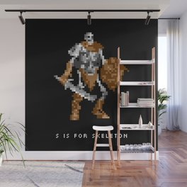 S is for Skeleton Wall Mural