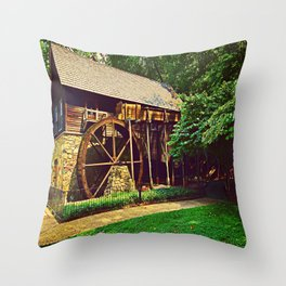 Gristmill - Charlottesville, Virginia Throw Pillow