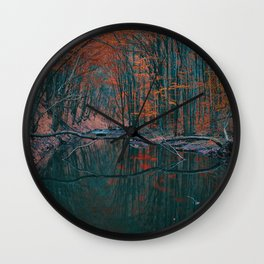 Romanian forest in autumn Wall Clock