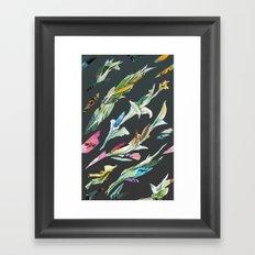 plant specimen 1 - dark Framed Art Print