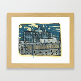 Atlanta From a Window Framed Art Print