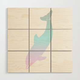 Cotton Candy Dolphin Wood Wall Art