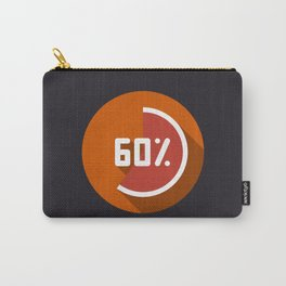 """Print illustration """"percentage - 60%"""" with long shadow in new modern flat design Carry-All Pouch"""
