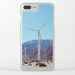 Palm Springs Windmills XI Clear iPhone Case