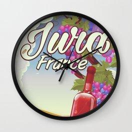 Jura France vineyard vintage travel poster Wall Clock