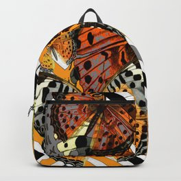 AWESOME  ORANGE-YELLOW BUTTERFLY GRAPHIC MODERN ART Backpack
