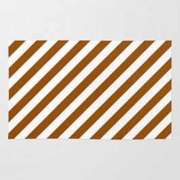 Diagonal Stripes (Brown/White) Rug