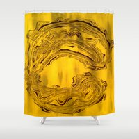captain hook Shower Curtains featuring Hook  by Anne Powers