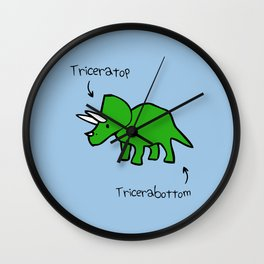 Triceratops Tricerabottom Wall Clock