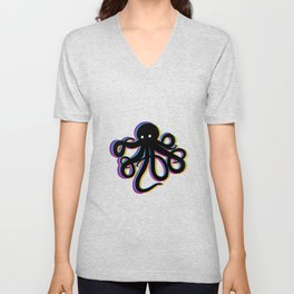Octopus the Magician Unisex V-Neck