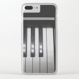 Electronic Keyboard Faded Clear iPhone Case