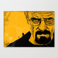 breaking bad Canvas Prints featuring Breaking Bad by The Art Warriors