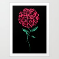 beauty and the beast Art Prints featuring Beauty And The Beast by Anwar Rafiee