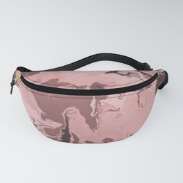 Abstract Burgundy & Hints of Gold Fanny Pack