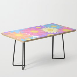 Floral Daisy Dahlia Flower Coffee Table
