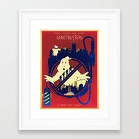ghostbusters Framed Art Prints featuring Ghostbusters by Jared Andolsek