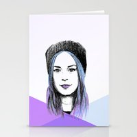 gemma correll Stationery Cards featuring Gemma by bylosangeles
