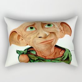 Dobby is Free Watercolour Painting Rectangular Pillow