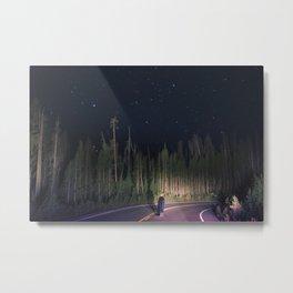 night drive Metal Print