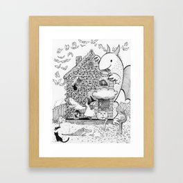 Busy Halloween Framed Art Print