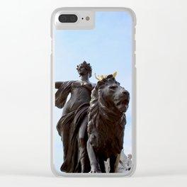 Queen Victoria Memorial Statue, London, England Clear iPhone Case