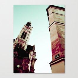LATIN QUARTER IN PARIS. Canvas Print