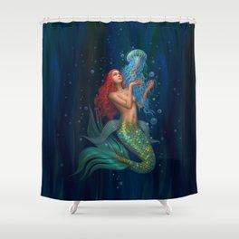 Beautiul mermaid Shower Curtain