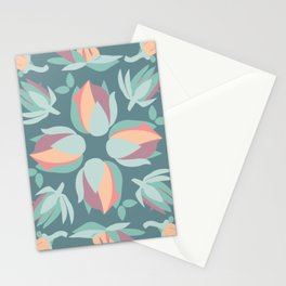 Succulent floral element & patterns VII Stationery Cards