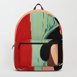 """Portrait of a girl with a shirt """"I Love Modi"""" Backpack"""