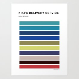 The colors of - kiki's delivery service  Art Print