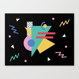 Memphis pattern 47 - 80s / 90s Retro Canvas Print