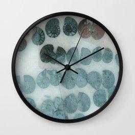 Sea Shell Disco Turquoise Wall Clock