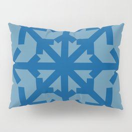 Radial Arrows - Lapis Blue and Niagara Pillow Sham