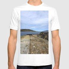 Scarp, Isle of Harris MEDIUM White Mens Fitted Tee