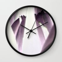 tulip Wall Clocks featuring tulip by habish