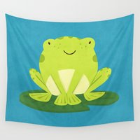 frog Wall Tapestries featuring Frog by Claire Lordon
