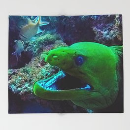 Moray Eel Throw Blanket