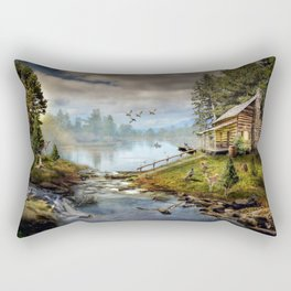 Wildlife Landscape Rectangular Pillow