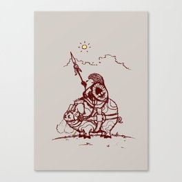 Nature Warriors: Battle Hedgehog Canvas Print