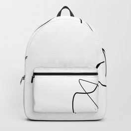 Lovers - Minimal Line Drawing 1 Backpack
