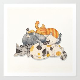 Cat Nap (Siesta Time) Art Print