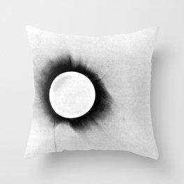 1919 Solar Eclipse Throw Pillow