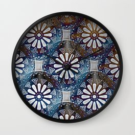 Medallions Re-visited  2 Wall Clock