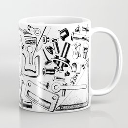 Hardware Black Coffee Mug