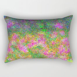 Meadow Pattern With Flowers Rectangular Pillow