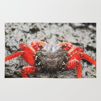 crab Area & Throw Rugs featuring Crab by Cassidy Marshall