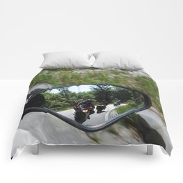 excursion by motorcycle 2 Comforters