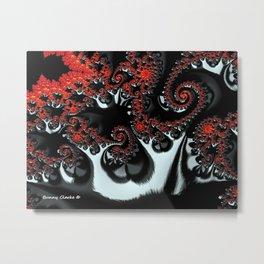 Apple Trees in the Moonlight Metal Print