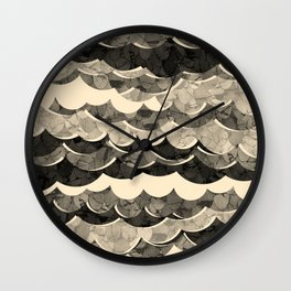 Abstract Beige Sea Waves Design Wall Clock