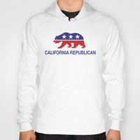 political Hoodies featuring California Political Republican Bear  by Republican
